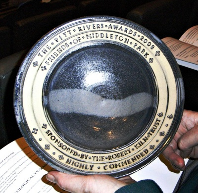 British Archaeological Awards Highly Commended Plate